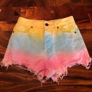 UNIF Guess What High Waist Shorts in Cotton Candy